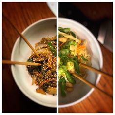 Korean Japchae and Thai Som Tum : veganrecipes