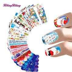 24 sheet Nail Art Christmas Theme Nail Sticker Set Water Decals Santa Snow Design Beauty Nail Wraps Party Decoration Kits Women