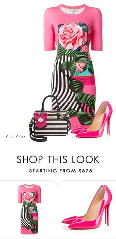 """""""Molli"""" by sonies-world ❤ liked on Polyvore featuring Mary Katrantzou, Christian Louboutin and Betsey Johnson"""