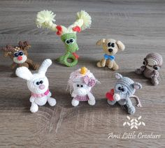 Hi, recently I made the video - Amigurumi Workshop about seven little toys by LittleOwlsHut I've already crocheted. I translated the. Crochet Patterns Amigurumi, Crochet Dolls, Little Unicorn, Red Scarves, Little Bow, Little Puppies, Button Flowers, Make A Gift, Crochet For Beginners