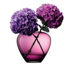 Vase, Flower Colour klassische Tischvase, erikarot By : LSA