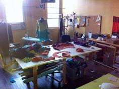 The Secret Lentil studio in its natural messy state, October 2013