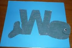Letter W Whale
