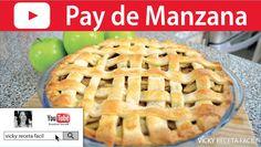 PAY DE MANZANA | Vicky Receta Facil - YouTube Pan Bread, Apple Pie, Deserts, Yummy Food, Baking, Sweet, Recipes, Cheesecake Frio, Youtube