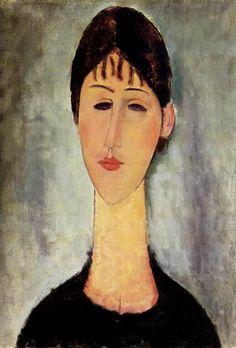 Modigliani - Portrait of Madame Zborowska, 1918