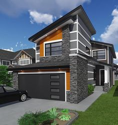 Contemporary Modern Elevation of Plan 81186