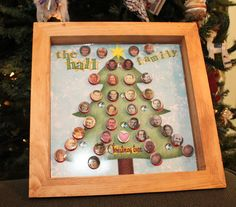 Magnetic Christmas family tree #genealogy