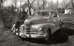 I think my mom's father had one of these 1947 Chevrolet Fleetline Aerosedan, circa 1958.