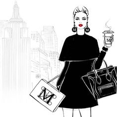 WEBSTA @ meganhess_official - Saturday in New York and I'm heading to The Met. This is one of the illustrations from my new book NEW YORK #MeganhessXnewyork