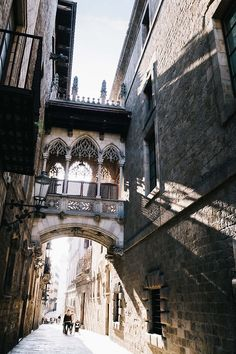 Street Bridge, Barcelona, Spain