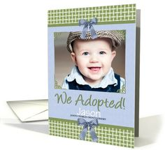 Adoption cards to help with outreach personalize your own premium adoption announcement for baby boy in blue greeting card universe by doreen erhardt colourmoves