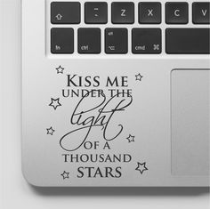 Ed Sheeran Lyrics Music Laptop Decal Ed Sheeran Laptop Sticker Song Lyrics Macbook Quote Kiss me under the Light of a Thousand stars by FixateDesigns on Etsy