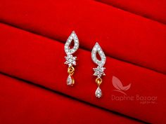 Daphne Impressive Zircon Studded Mangalsutra for Women – Buy Indian Fashion Jewellery Gold Earrings For Kids, Fancy Earrings, Gold Earrings Designs, Necklace Designs, Fashion Jewellery, Gold Jewellery, Bridal Jewelry, Gold Pendant, Pendant Jewelry