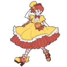 AND FEELS, restaurant lolitas; happy holidays y'all; Cartoon Art Styles, Cartoon Drawings, Cute Drawings, Character Concept, Concept Art, Character Design, Pretty Art, Cute Art, Cute Clown