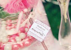 Princess Birthday Party Printed Favor Tags