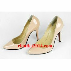 438f633a8a60 patent leather Christian Louboutin Pumps Nude 80mm
