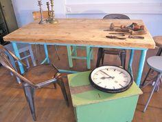 Vintage Tische - Industrie, Design , Werkstatt Tisch - ein Designerstück von zeitlos-design bei DaWanda