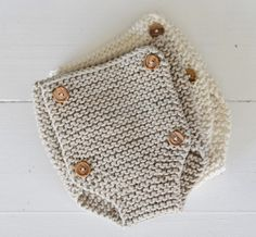 Knitting Pattern For Beginners Baby Drawers Pattern Learn To Knit Diaper Cover DIY Newborn Knickers Organic Baby Clothing - knitting pattern