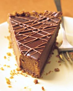 Triple-Chocolate Pumpkin Pie - chocolate combined with pumpkin..... yes please!
