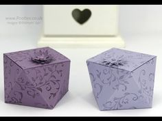 Way Back Wednesday Faceted Box Tutorial - YouTube