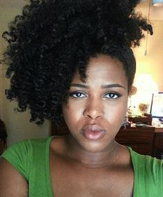 Click the image for Melissa's natural hair photos and regimen.