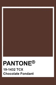 Pantone Chocolate Fondant Paleta Pantone, Pantone Tcx, Pantone Swatches, Color Swatches, Brown Pantone, Yellow Pantone, Chocolate Fondant, Chocolate Color, Chocolate Truffles