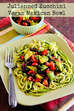 Ten Amazing Low-Carb Recipes for Zucchini Noodles, plus Honorable Mentions found on KalynsKitchen.com