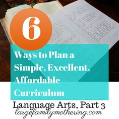 How to plan homeschool language arts part 3 for practically FREE!!!