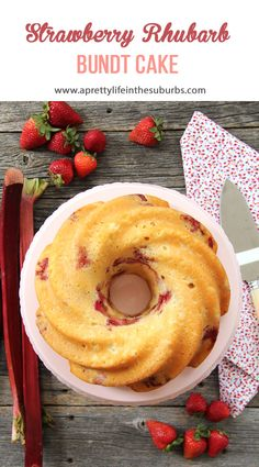This Strawberry Rhubarb Cake is amazing. Theres& no other way to describe i. This Strawberry Rhubarb Cake is amazing. Theres& no other way to describe it.it& tender and full of delicious strawberry and rhubarb flavour! Strawberry Rhubarb Recipes, Rhubarb Desserts, Strawberry Rubarb Pie, Rhubarb Cookies, Rhubarb Pie, Bunt Cakes, Cupcake Cakes, Cupcakes, Cake Recipes