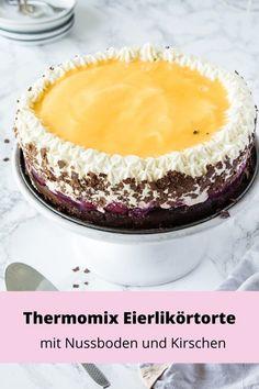 Thermomix eggnog cake with cherries - the best ever-Thermomix Eierlikörtorte mit Kirschen – die Beste überhaupt Thermomix eggnog cake with cherries – the best … - Low Carb Peanut Butter, Peanut Butter Desserts, Peanut Butter Cheesecake, Mini Desserts, Easy Desserts, Delicious Desserts, Dessert Recipes, Cheesecake Thermomix, Cheesecake Recipes