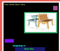 Plans Garden Bench Table 110245 - The Best Image Search