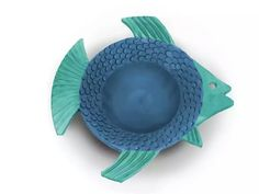 Fish nº1 of the #dailyfishchallenge - Bowl, ¤20cm - digitally coloured greenware