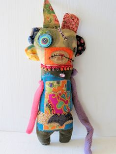 Handmade Monster Plush Theodora Grungy Art by MysticHillsNgaroma, $55.00 https://www.etsy.com/listing/110372750/handmade-monster-plush-theodora-grung