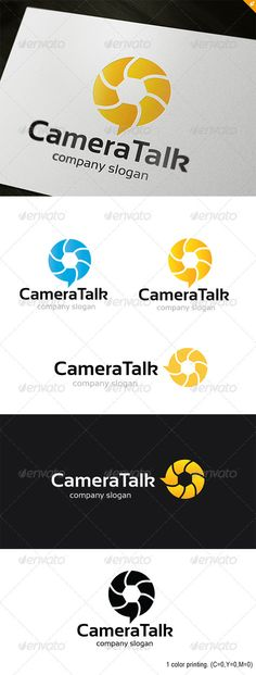 Camera Talk Logo  #GraphicRiver          Camera Talk – Logo Template  This logo design for creative studio,Camera blog camera company, Photographer.  Logo Template Features   EPS and AI 300PPI  CMYK  100% Scalable Vector Files  Easy to edit color / text  Ready to print  Font information at the help file    If you buy and like this logo, please remember to rate it. Thanks!     Created: 5January13 GraphicsFilesIncluded: VectorEPS #AIIllustrator Layered: No MinimumAdobeCSVersion: CS4…