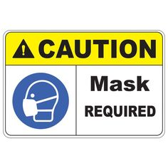 Post Caution Mask Required safety signs throughout your workplace. Caution Mask Required safety sign will get the message across to your employees, customers and visitors of your workplace safety policies. Health And Safety Poster, Safety Posters, Safety Policy, Safety Week, Warehouse Management, Electrical Safety, Sign Materials, Anniversary Funny, Workplace Safety
