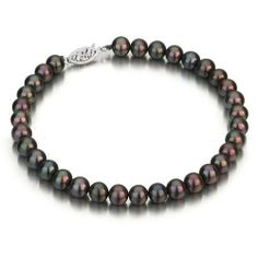 Sterling Silver 6-7mm Black Freshwater Cultured Pearl Bracelet AAA Quality, 6.5 Inch Unique Pearl. $74.99. Save 78%!