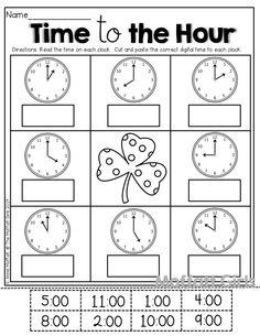 first grade math unit 15 telling time englisch metzger und kind. Black Bedroom Furniture Sets. Home Design Ideas