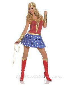 Rød og Blå Utkledning Wonder Woman Kostume
