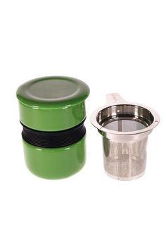 Tasse de style asiatique verte foncé
