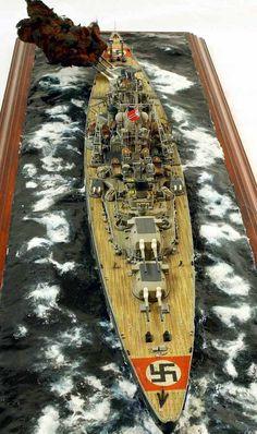 Battleship Bismarck 1/350 Scale Model