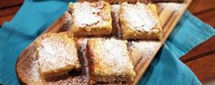 Ooey Gooey Butter Cake Recipe - The Chew The Chew Recipes, Donut Recipes, Cake Recipes, Party Recipes, Sweets Recipes, Just Desserts, Delicious Desserts, Ooey Gooey Butter Cake, Walnut Cake