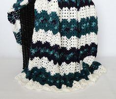 🏊🏼 Crochetar Cobertor afegão Deite de oscilação Tealby Malha itens decorativos Criações -  /  🏊🏼 Crocheting Afghan Blanket Throw Ripple Tealby Knit Knacks Creations -