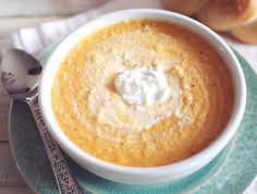 Cheesy Butternut Squash Soup