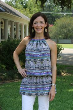 Free+Patterns+for+Halter+Tops | You can show off a print fabric that you love. You can even wear it ...