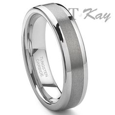 Tungsten Carbide rings are an attractive, inexpensive alternative to gold or platinum wedding bands. Four times harder than titanium, these things are basically indestructible.