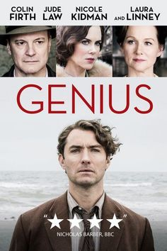 Renowned editor Maxwell Perkins (Colin Firth) develops a friendship with author Thomas Wolfe (Jude Law) while working on the writer's manuscripts. Jude Law, Movies Showing, Movies And Tv Shows, Period Drama Movies, Period Dramas, Amazon Prime Movies, Movie To Watch List, Watch Movies, Bon Film