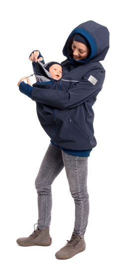 All-Weather Softshell Babywearing Jacket for Women - Jacky in Navy Baby Carrier Jacket, Baby Carrier Cover, Cozy Cover, 3 In 1 Jacket, Babywearing, Jacket Pattern, Baby Accessories, Baby Patterns, Little Babies
