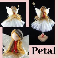 Christmas Fairy, Christmas Tree Toppers, Handmade Christmas, Christmas Crafts, Christmas Ornaments, Holly Smith, Fairy Tree, Satin Roses, Fairy Dolls