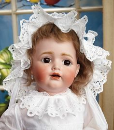 Sanctuary: A Marquis Cataloged Auction of Antique Dolls - March 19, 2016: Large Wide-Eyed German Bisque Toddler, Model 260, by Kestner