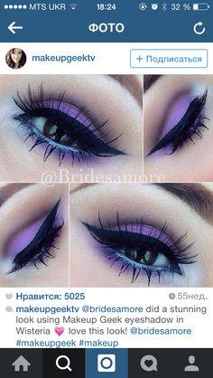 Purple makeup. Eyeliner